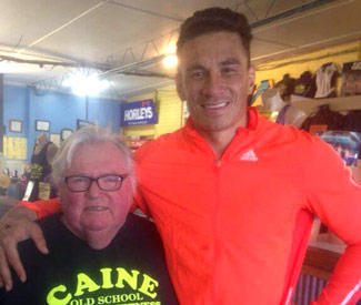 Sonny Bill Williams with Trainer Dick Caine