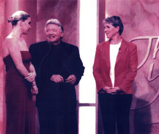 Dick Caine with two of his Golden Girls - 