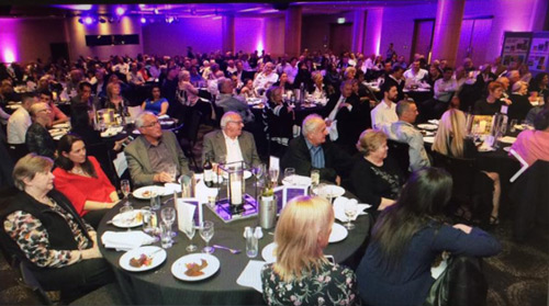 Dick Caine Tribute Night Dinner showing over 300 guests