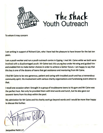 The Shack, Youth Outreach Award