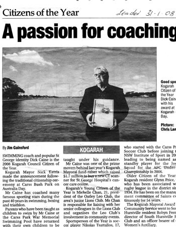 A passion for coaching news article form the Leader